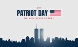 Fototapeta Nowy Jork - Patriot Day Background with New York City Silhouette.
