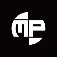 MP Logo Monogram With Slice Ci...