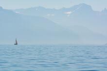 Voilier Sur Le Lac Léman