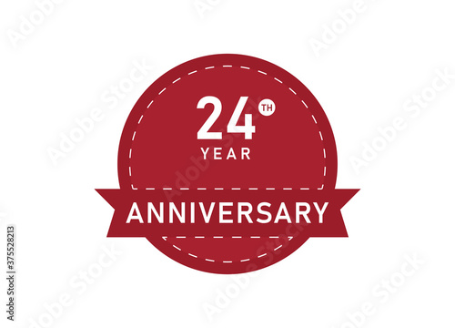 Photo 24 year anniversary Badges. 24 years anniversary