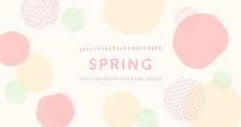 春を連想させる色のベクタータイトル素材