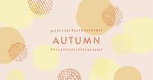 秋を連想させる色のベクタータイトル素材