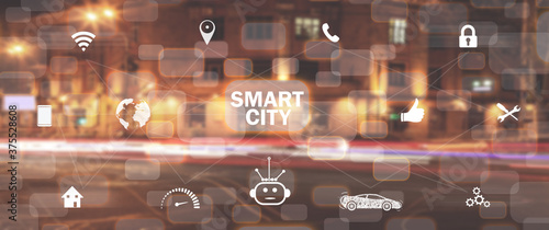 Canvastavla Smart city. Communication. Network. Internet of Things