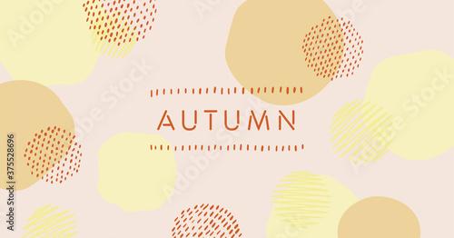 秋を連想させる色のベクタータイトル素材 Fototapet