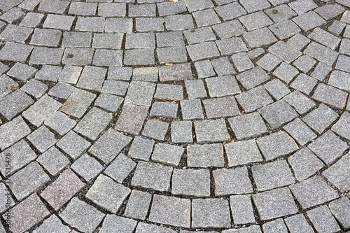 grey cobblestones on ground Canvas Print