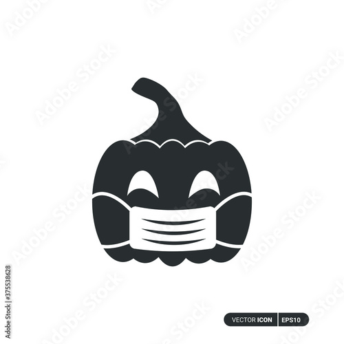 Foto Pumpkin using mask icon