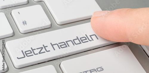 Leinwand Poster Tastatur mit beschrifteter Taste - Jetzt handeln