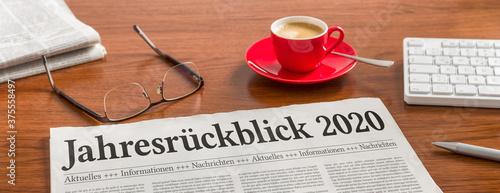 Tela Zeitung auf Schreibtisch - Jahresrückblick 2020
