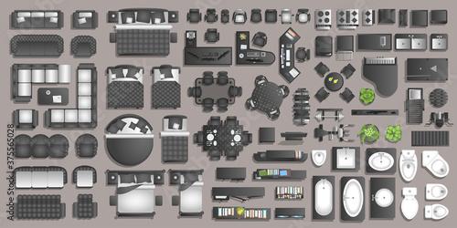Fotografie, Tablou Icons set of interior