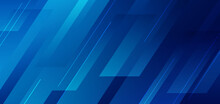 Abstract Blue Diagonal Geometric With Line Modern Technology Background.