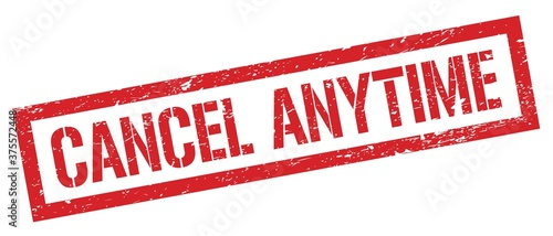 CANCEL ANYTIME red grungy rectangle stamp. Canvas Print
