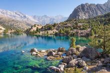 Tajikistan. Turquoise Water In...