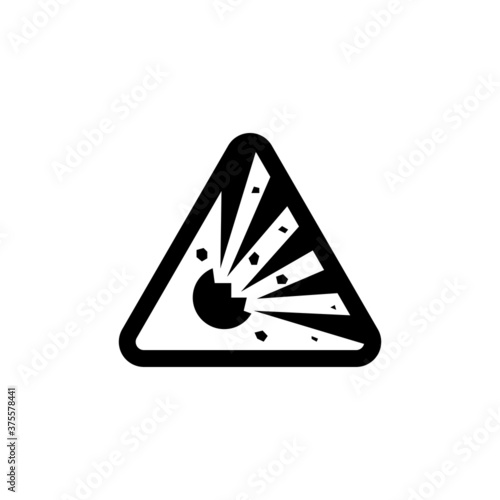 Valokuvatapetti Explosion material icon vector, simple sign and symbol