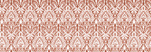 Geometric Natural Watercolor Damask Texture Pattern