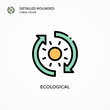 Ecological vector icon. Modern vector illustration concepts. Easy to edit and customize.