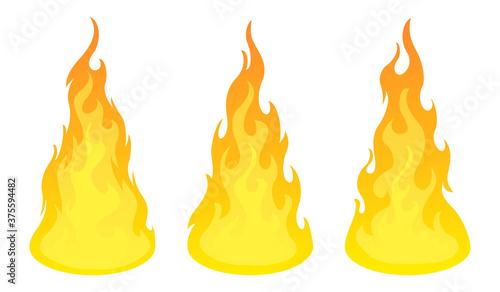 Bonfire icon set. Design element Fototapete