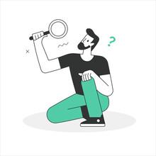 Search Line Illustration