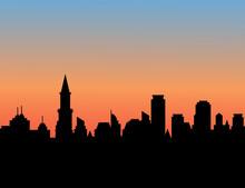 Night City Skyline.vector Illu...