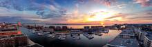 Sonnenuntergangs Panorama In D...