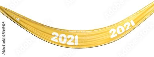 banderole avec 2021 et bonne année Canvas Print