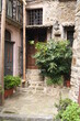 old building in an alley in the old town of agricola, cilento national park, salerno province, campania, italy