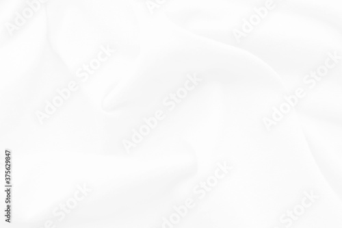 Fototapeta White and grey Smooth elegant background with cloth soft waves