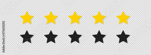 Fototapeta Five stars rating icon set vector icon