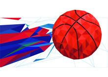 Tangram Basketballs In A Fractal Background