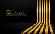 Abstract Yellow Gold And Black...