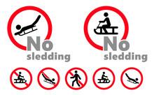 No Skiing Forbidden Sign. Do N...