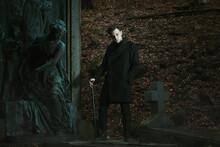 Vampire And Cemetery Statue