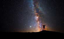 Man In Front Of The Universe W...
