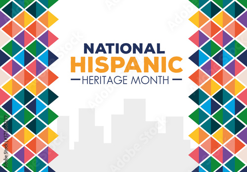 Fototapeta hispanic and latino americans culture, national hispanic heritage month in septe