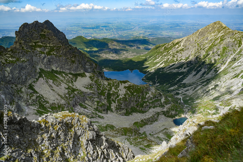 Landscape of Tatra mountains in Poland. Mountain landscape.