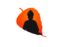 Lord Buddha Graphic Trendy Design With Leaf Beautiful Graphics Design.