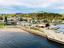 Cityscape And Port Of Saguenay...