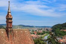 Sighisoara; Romania, 7,2019: T...