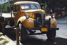 Beautiful Yellow Truck From The Fifties