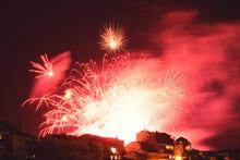 Fireworks Over Buildings
