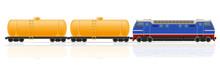 Railway Train With Locomotive ...