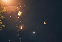 Festival Time - Sky Lanterns Flying Away