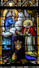 Pope Pius V Stain Glass