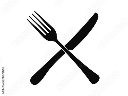 Canvastavla Cutlery on a transparent background