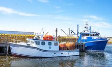 Boat, Ocean, Lobster, Fish, Fishing, Eco, Float, Coast, Beach,  Tourism, Water, Cage, Canada, Green, Travel, Summer, Trap,  Bay, Cloud, Beautiful, Holiday, Coastline, Mountains, Nova Scotia