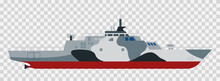 Military Exercises Of The Naval Forces Amphibious Assault Ship Dock Vector Illustration