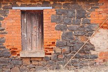 An Old Wall Of A House From The Victorian Goldrush Era In Australia