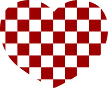 Simple Heart Vector Design In Red And White