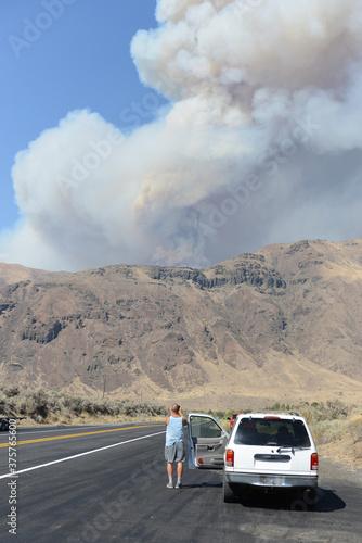 Evans Canyon fire, Washington 2020 Canvas