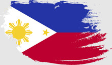 Philippines Flag In Grunge Style