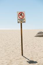 Spanish No Swimming Sign